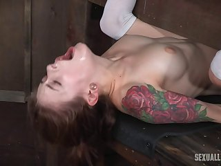 Sex slave ravished by her masters who crave her holes