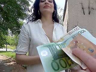 MILF fucks stranger for his cash