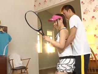 Tennis Girl Maho Ichikawa Takes A Facial From A Blowjob