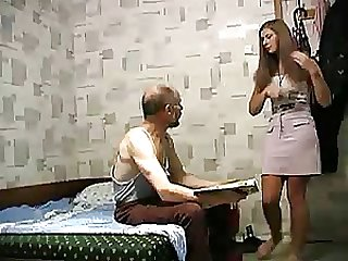 Old Turkish Man Banging a Gorgeous Blonde Teen In Voyeur Vid