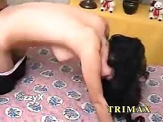 Turkish Brunette Gives A Blowjob As She Wears Black Lingerie